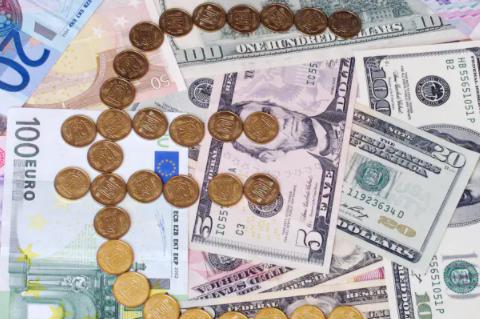 歐元/美元延續低點 1.1770 附近的反彈